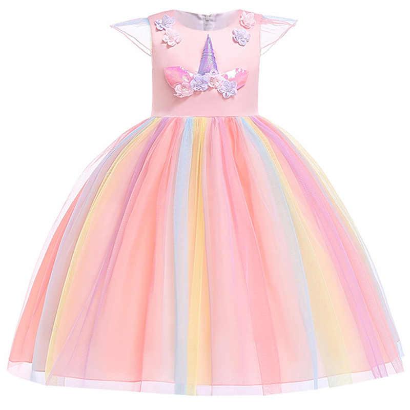 0be40fc148f0 Flower Girls Dresses For Wedding Formal Girl Birthday Party Dress 2019  summer Princess Ball Gown Kids