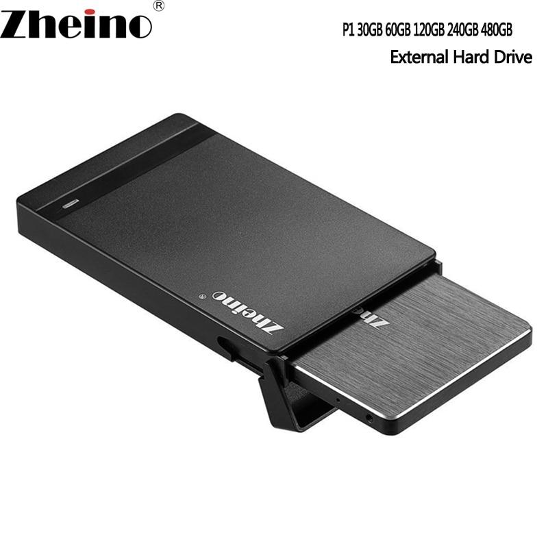 Zheino USB 3.0 P1 30GB 60GB 120GB 240GB 480GB Portable external hard drive 2.5 inch SATA3 2D MLC SSD External Hard Disk Drive