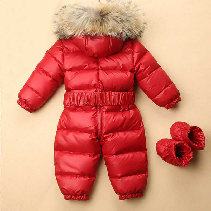 ... Зимние зимняя одежда для детей теплый комбинезон малышей пуховики для  маленьких мальчиков и девочек зимний комбинезон ... 7616e603d131f