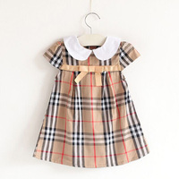 Summer New 2017 Girls Dresses 100 Pure Cotton Leisure Costume Robe Fille Children Kids Clothing For