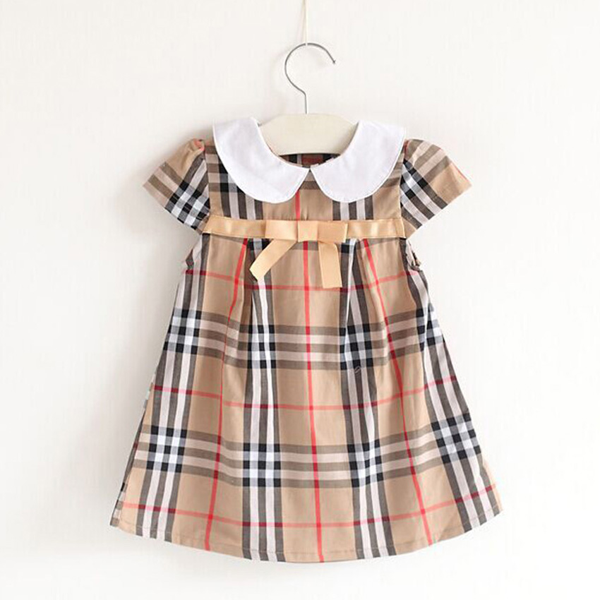 Summer New 2017 Girls Dresses 100% Pure Cotton Leisure Costume Robe Fille Children Kids Clothing for 2-7years Toddler Princess
