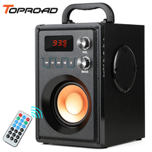 TOPROAD 20W Big Power Bluetooth Speaker Portable Wireless Stereo Bass Subwoofer Speakers Support Remote Control FM Radio TF AUX
