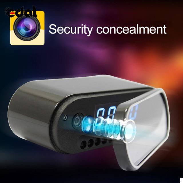 Alarm Clock Livecam Night Vision Wifi Remote Control 1080