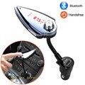 Novo Conjunto Kit mãos livres Bluetooth Carro Transmissor FM MP3 Player 5 V 2.1A USB Car charger Suporte Reproduzir música a partir do Cartão TF USB memória