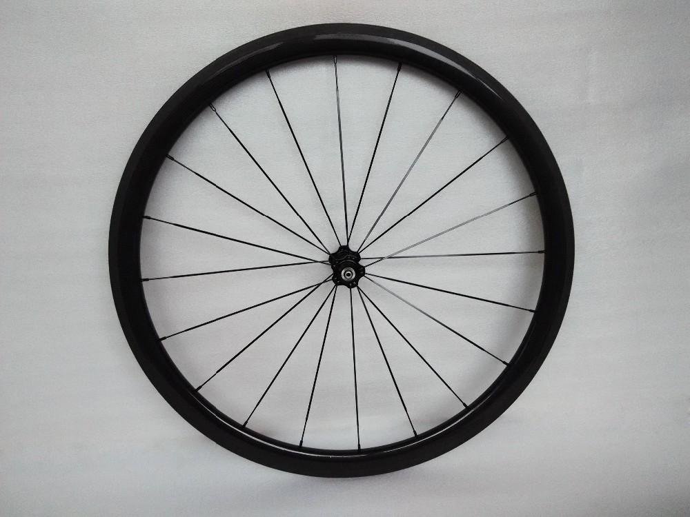 carbon wheels clincher 38mm 700C road bike clincher 38mm 3k glossy  black wheelset (12)
