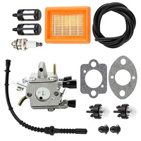 1 Set Of Lawn Mower Carburetor Spark Plug Fuel Line Kit For STIHL FS120 200 250 FS200 With High Quality