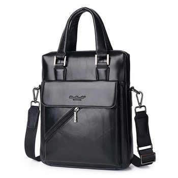 Genuine Leather Men's Briefcase Tote Messenger Shoulder Bag Travel Laptop bags for men Document Business Briefcase Male Handbags - DISCOUNT ITEM  35% OFF All Category