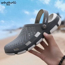 купить WHOHOLL EVA Sandals Men's Clogs Summer Shoes New Men Slippers Breathable Non-slip Mules Male Garden Shoes Casual Beach Sandals по цене 703.52 рублей
