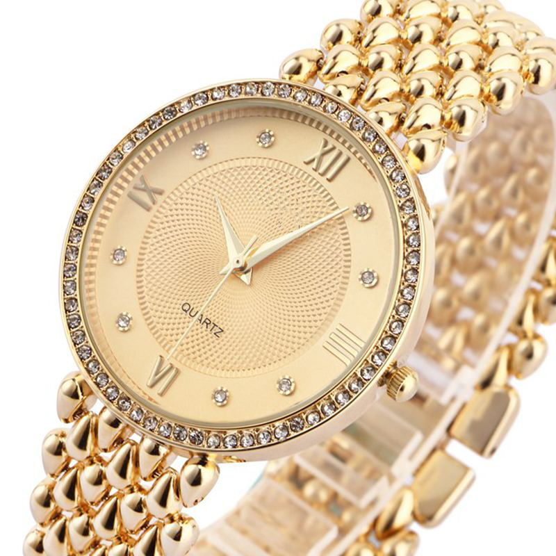 Gold Luxury Watch Women Fashion Casual Brand Quartz Wristwatch Relogio Feminino Saat Dress Watches Ladies Diamond Clock LZ2172 new fashion brand gold geneva casual quartz watch women crystal silicone watches relogio feminino dress ladies wristwatches hot