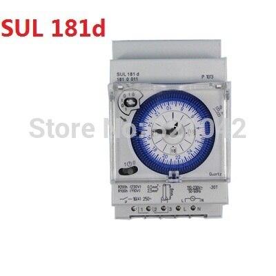 DIN RAIL SUL181d Analog 24 hours 3-Module Segment Mechanical Timer Switch