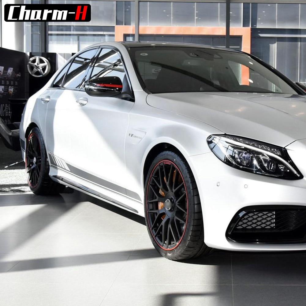 """1 leidimo šoninio juostelės lipduko lipdukas """"Mercedes Benz W205 - Automobilių išoriniai aksesuarai - Nuotrauka 5"""