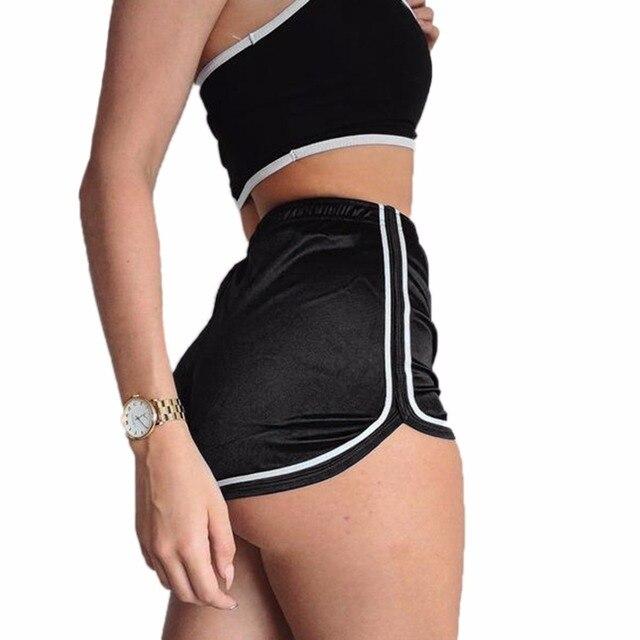 Mulheres Sexy Curto Verão de Seda Magro Ocasional Branco Egde Shorts ... 6af721528432f
