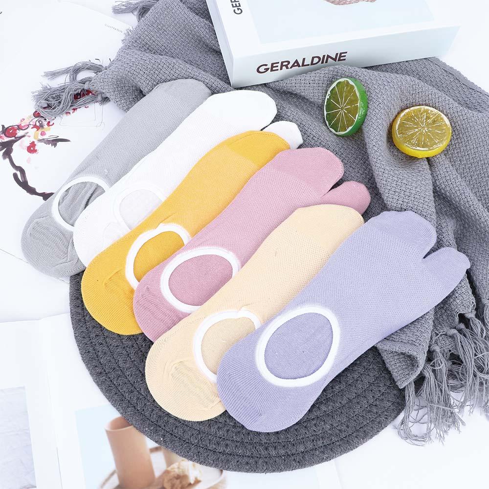 Women Split Toe Boat Socks Shallow Mouth Invisible Ankle Flip Flop Sandal Sock Slippers Women's Summer Soft Breathable Hosiery