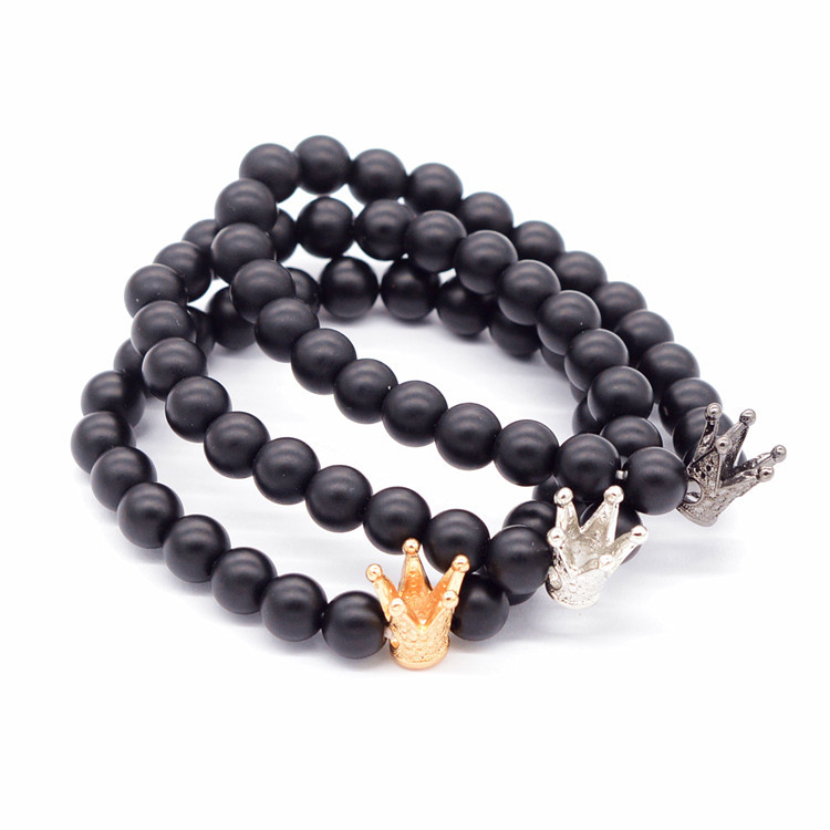 men women stone charm item black bear skull volcano bracelet cute jewelry matte in lava stainless bracelets from brand steel beaded