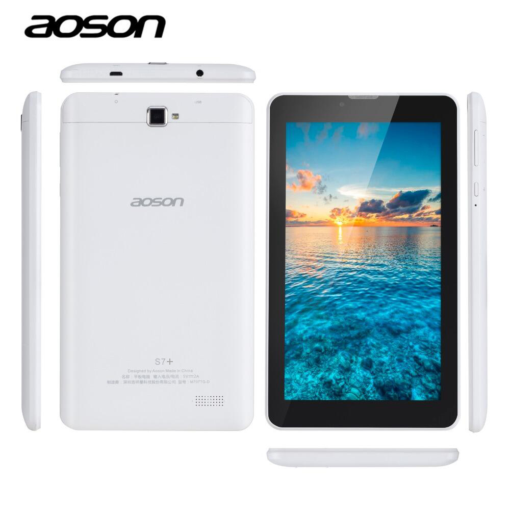AOSON S7+ 7 inch 3G Unlocked Smart phone Tablet PC Android 7.0 MTK8321 16GB Quad Core IPS 1024*600 1G+16G GPS Bluetooth SIM CARD tablets aoson s7 7 inch 3g phone call tablet pc android 7 0 16gb rom 1g ram quad core dual camare gps wifi bluetooth tablets