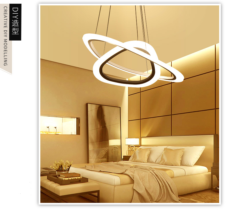 Modern Led Ceiling Lamp ring-shaped restaurant lights simple living room lights led office lighting entrance Pendant lights kapro high precision movable angle woodworking tools universal horizontal line t shaped angle ruler a protractor