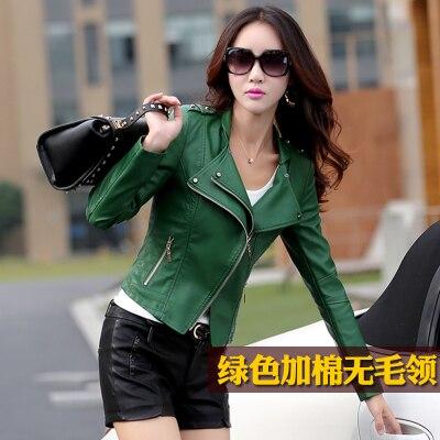 Echtpelz schwarz rot grün weiche echt leder zip Plus Größe L Mode 2018 Herbst Winter Frauen Weibliche Dünne Kurze leder outwear