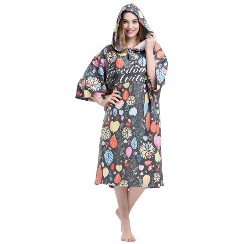 Beach Towel Womens: Leaves Printing Changing Robe Bath Towel Fashion Outdoor