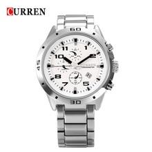 2017 curren 8021 кварцевые часы часы мужские часы мода из нержавеющей стали спортивные часы мужчины повседневная наручные часы relogio masculino