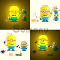 Energy Saving Baby Led Lamps Novelty Gifts Minions Sensor Cute Lovely DIY Wall Stickers Children Bedroom Led Night Lights