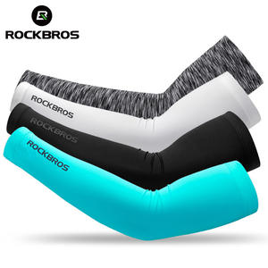 ROCKBROS Arm-Warmers Arm-Sleeve Safety-Gear Ice-Fabric Runnling Sports Summer Camping