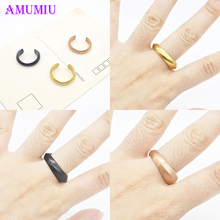 AMUMIU Vintage Punk Rings Set Antique Gold Color Rose Gold Female Charms Jewelry Knuckle Ring For Women Fashion Party Gift R029 4 pcs set boho ring set 2019 fashion jewelry hollow compass rhinestone shell wedding ring set punk gold knuckle rings party gift