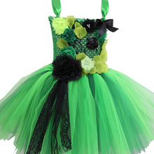 Girl Baby Clothing Green O-neck Easter Dress for Girls Christmas New Year Flower Lace Party Vestido Winter 8 10