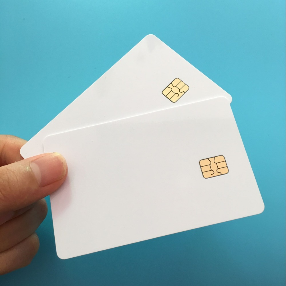 10PCS RFID Intelligent S50 Mi-fare 1k Writable NFC Card With SLE4442 Dual Chip Security Cards