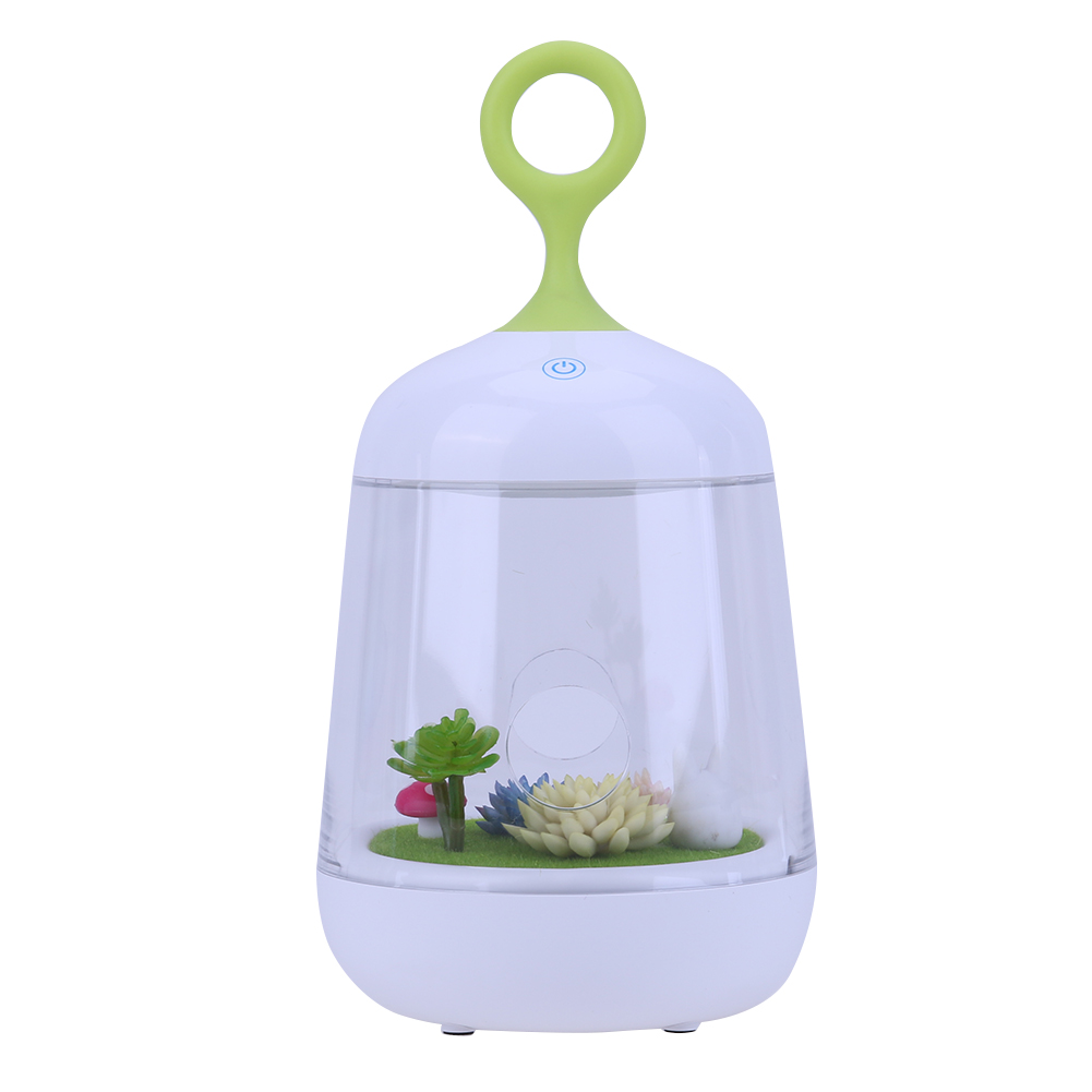 Micro-Landscape Cartoon Plant Night Light USB Power Rechargeable Lighting DIY Potted Baby Bedroom Lamp