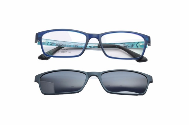 27bed1f48c DEDING 2017 Polarized Prescription Frames Branded Magnetic Clip On W TR90 Optical  Frames Men Glasses