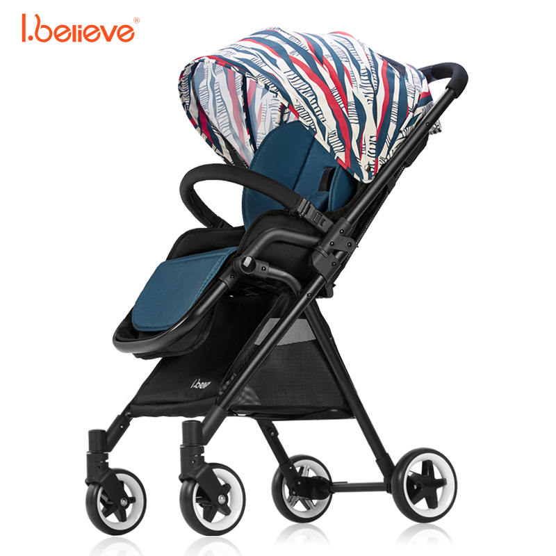 все цены на I.believe Baby Stroller I-S012 High landscape Portable lightweight 5 point harnes Foldable baby pram For 0-36 month baby