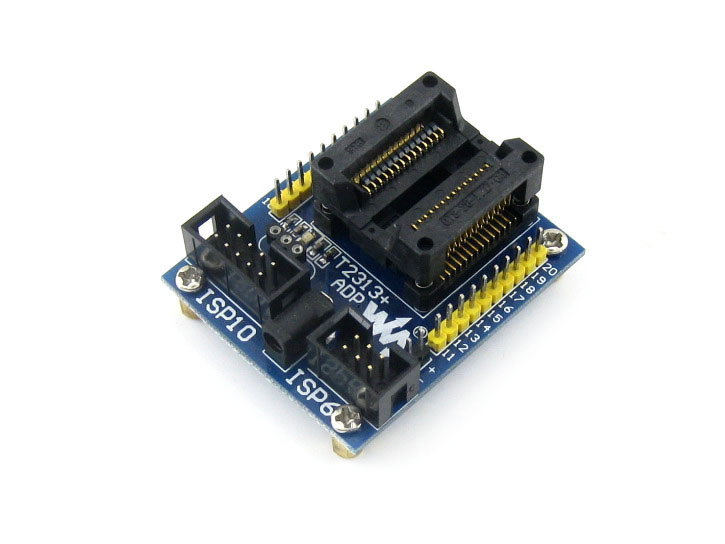 module T2313+ ADP ATtiny2313 AT89S2051 AT89S4051 SOIC20 (300 mil) AVR Programming Adapter Test Socket + Freeshipping