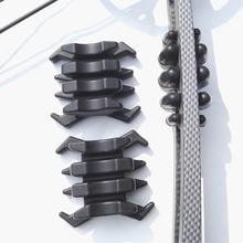 1 par de tiro com arco de borracha membros vibração amortecedor estabilizador silenciadores para dividir membro arcos compostos