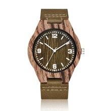 Quartz Watch Men Wooden Watches 2020 Bamboo Modern Wristwatc