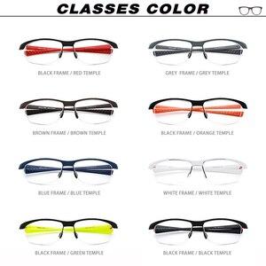 Image 5 - TR90 Brillen Frame Mannen Basketbal Outdoor Ultralight Bril 2019 Sport Half Bijziendheid Optische Brillen Recept 17027