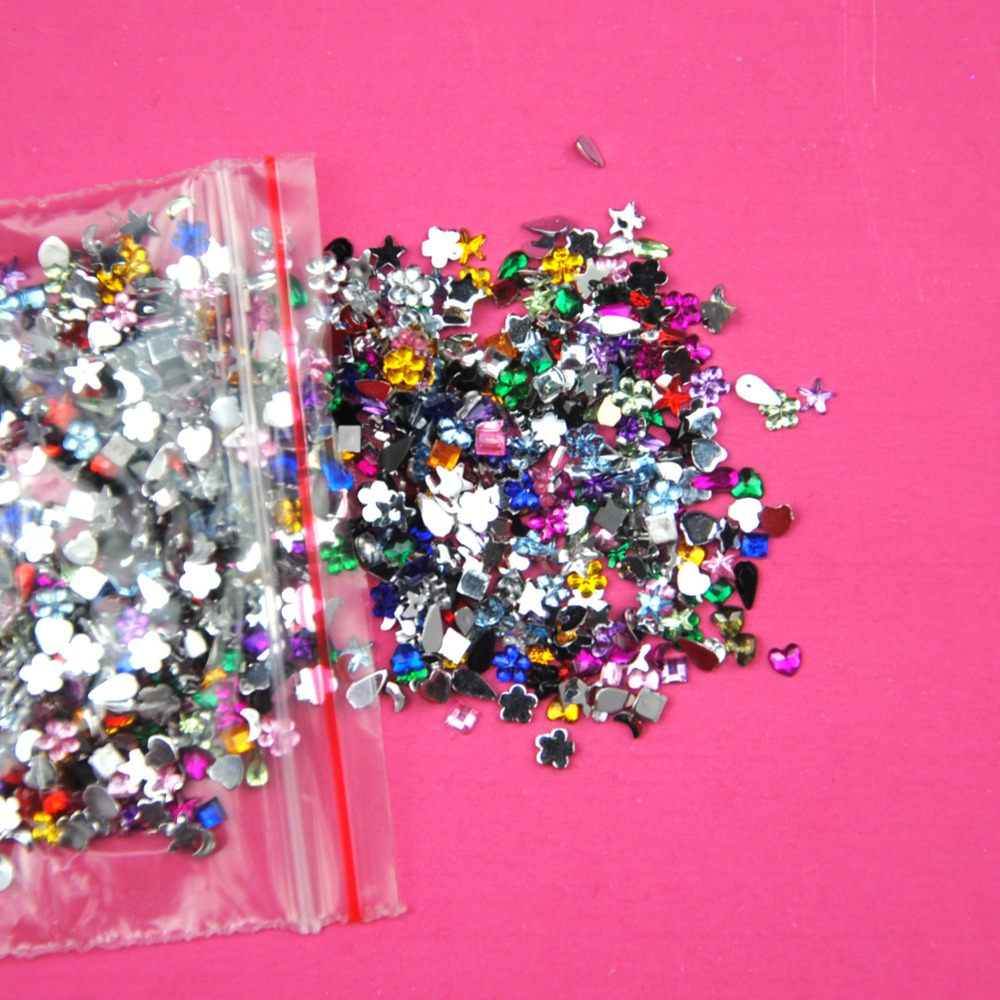 2000pcsd nail decoration acrylic nail supplies gel tips ForAcrylic Nail Decoration Supplies