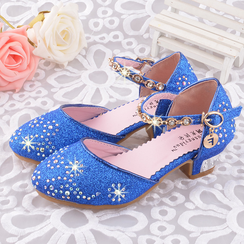 SLYXSH Children Princess Sandals Kids Girls Wedding Shoes High Heels Dress Shoes Party Shoes For Girls Pink Blue GoldSLYXSH Children Princess Sandals Kids Girls Wedding Shoes High Heels Dress Shoes Party Shoes For Girls Pink Blue Gold