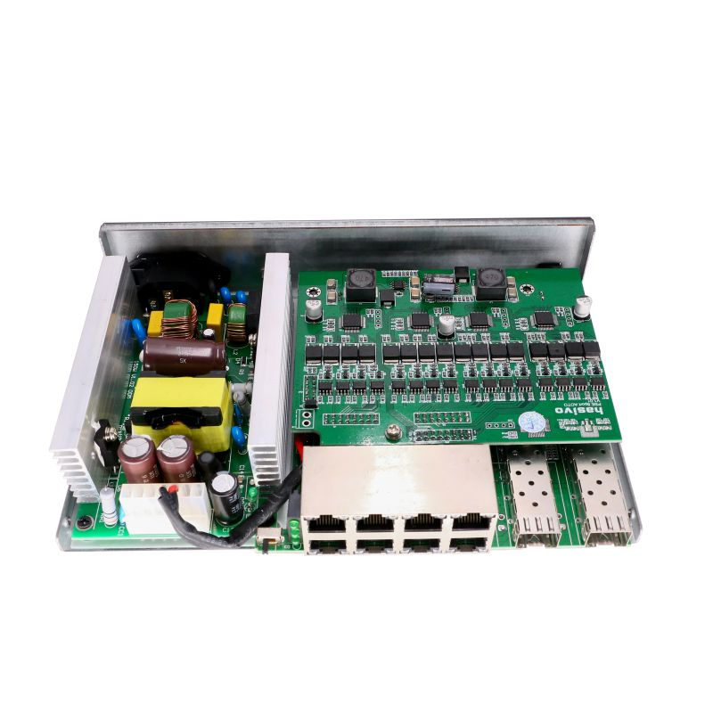 Auto ID 24V or 48V POE 8 port gigabit PoE Switch Ai distinguish active PD and passive PD  POE output adaptive