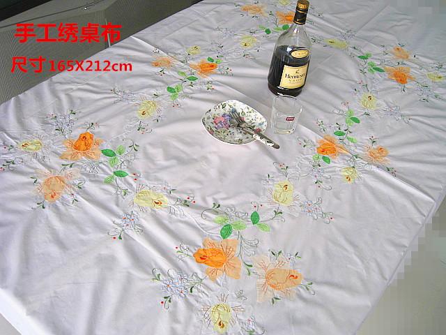 casa camino de mesa bordada pao clsico bordado a mano mantel apliques mantel cubierta de cama