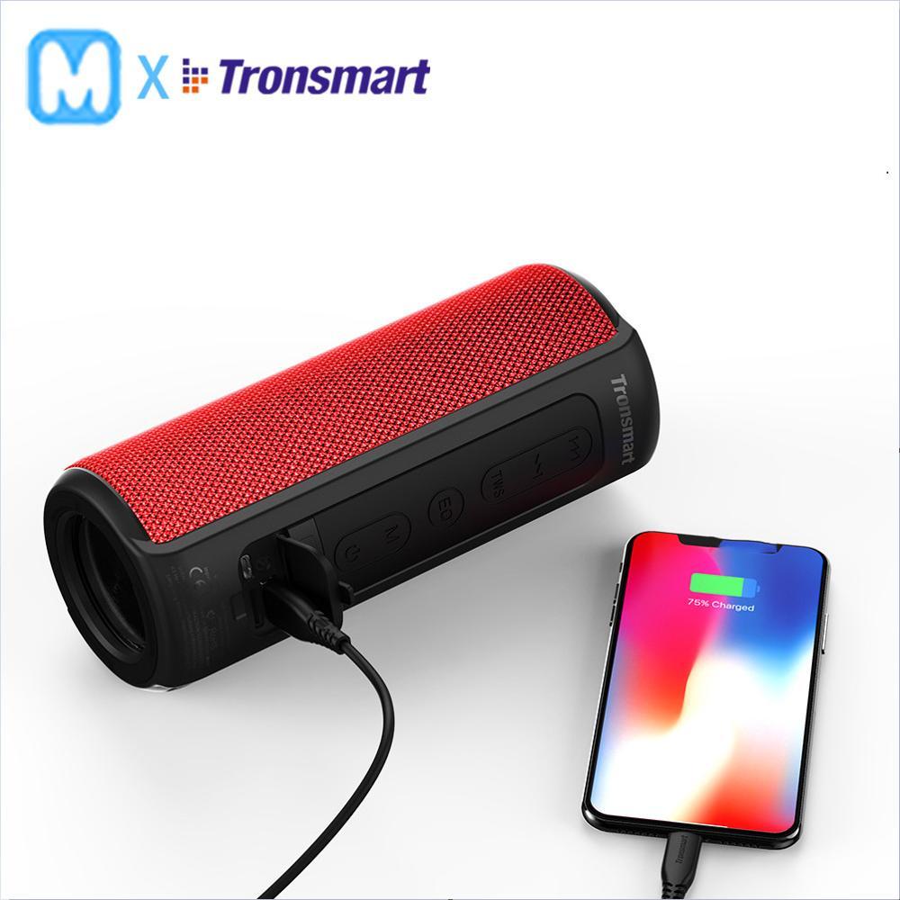 Tronsmart T6 Plus haut-parleur Bluetooth 40 W haut-parleur Portable barre de son basse profonde avec IPX6 étanche, fonction de batterie externe SoundPul
