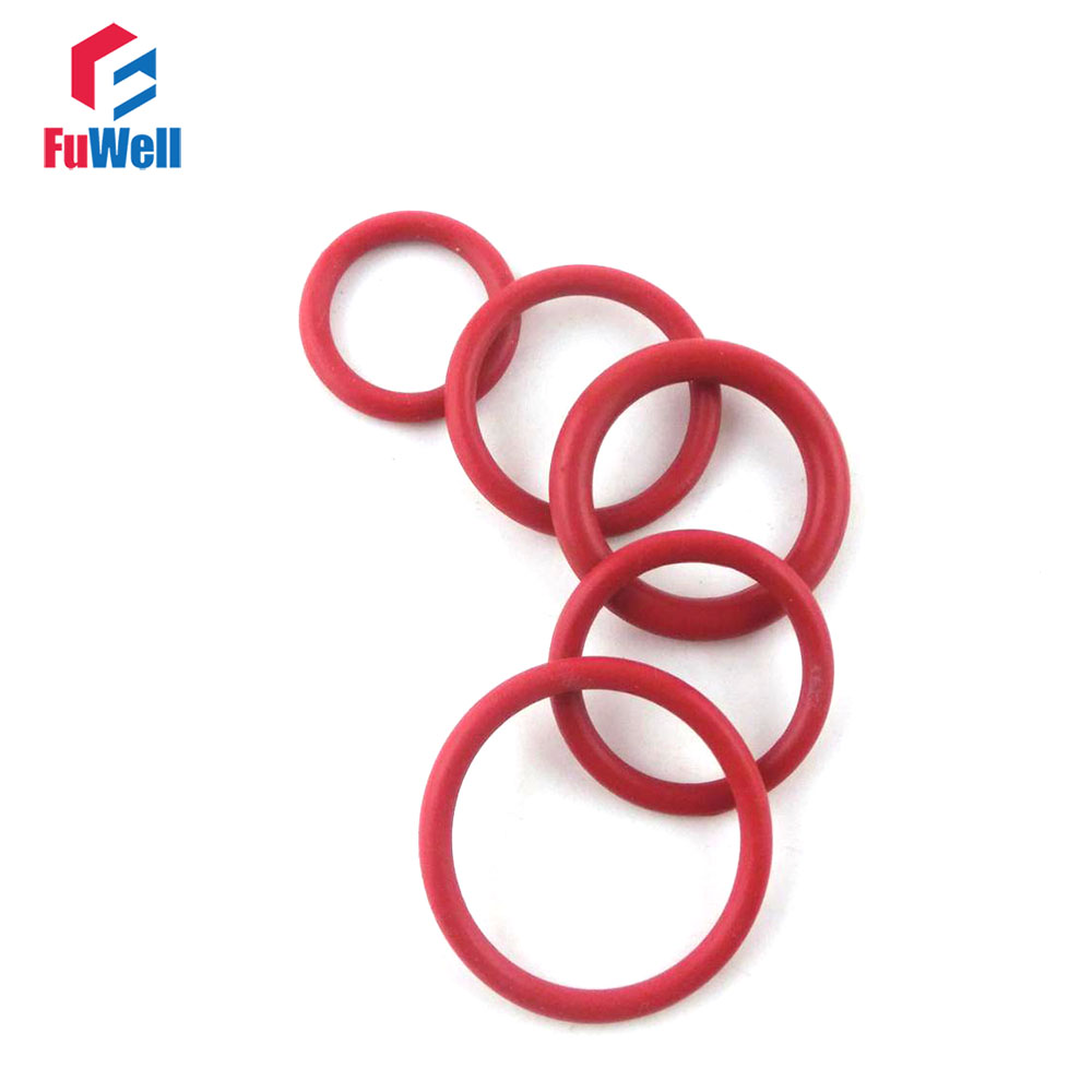 50//100pcs 3mm FOOD GRADE Red Silicone O-rings O Ring Seals Gasket OD 10-70mm