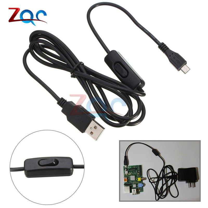 1.5m Micro USB Power Supply Charger Cable Wire  ON//OFF Switch Raspberry Pi Jh