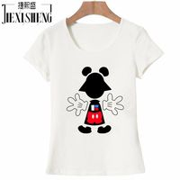 Fashion T Shirt Women Summer Tops Blusas Femininas Casual Cotton 3D Cat Print And Short Sleeve