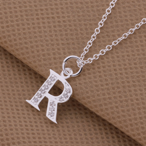 2015 top quality silver letter k m r pendant necklace with 2015 top quality silver letter k m r pendant necklace with zircon beautiful lovers jewelry global hot in pendant necklaces from jewelry accessories on mozeypictures Gallery
