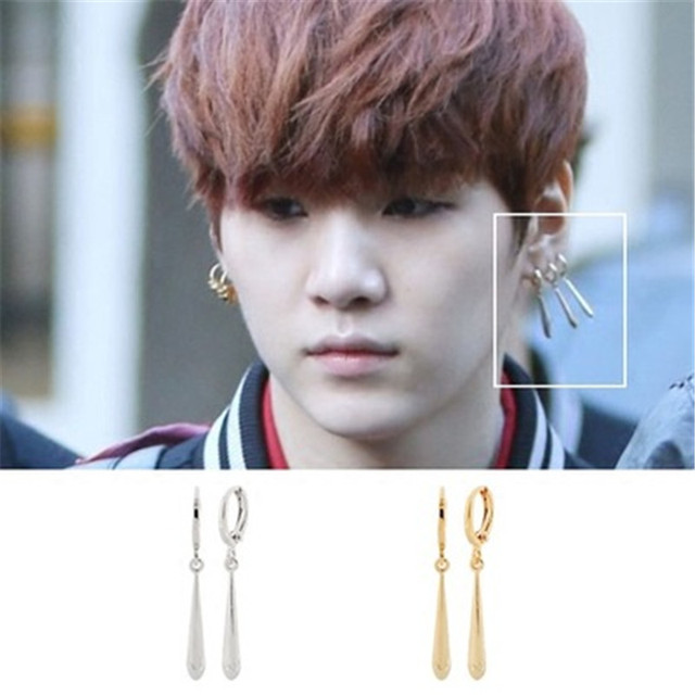 bfa52221a09cd US $3.29 |BTS BangTan Boys SUGA Prig Earrings KPOP Style Earring 1Pair  17020404-in Action & Toy Figures from Toys & Hobbies on Aliexpress.com | ...