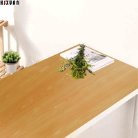 Yellow Wood Grain Paper Decal Self Adhesive Removable Kitchen Waterproof Stickers Home Decor Kitchen Tiles Wall