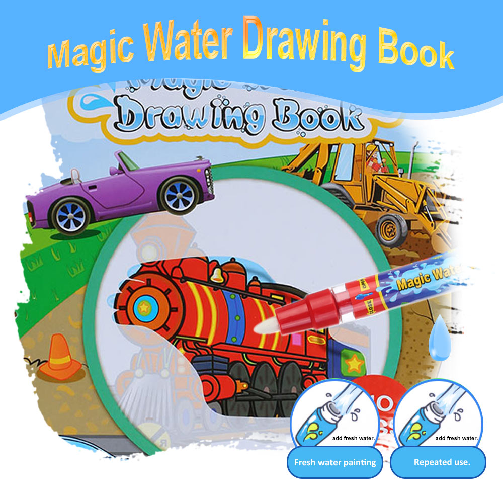 Aliexpress Buy 5 Type Water Drawing Book Magic Coloring Doodle With Pen Painting No Ink Board Educational Kids Toys From Reliable