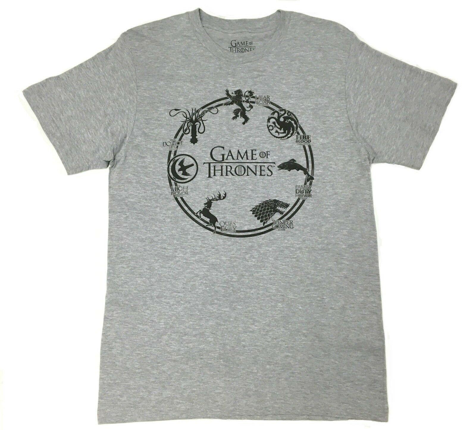 Game Of Thrones SHOUSE SIGILS anneau T-Shirt NWT 100% authentique été hommes mode T-Shirt 2019 mode, 2019 t-shirts chauds