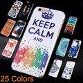 2017 Новое Прибытие Телефон Капа Для Apple Iphone 6 6 s Ультра-Тонких Пластиковых Печатных Назад Чехлы Для Iphone6 6 s Case