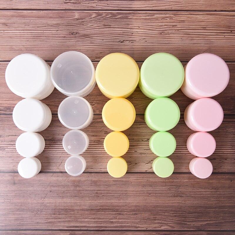 10г 20г 50г 100г портативный пластиковые косметические пустые баночки путешествия горшки для макияжа жидкое крем-бальзам для губ контейнер бальзам карман